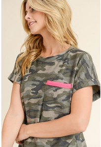 Angie Camo Top