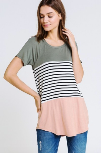 Vanessa Color Block Stripe