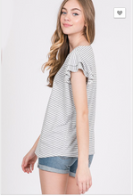 Load image into Gallery viewer, Katerina Stripe Flutter Sleeve