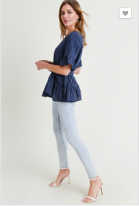 Natalia Ruffle Sleeve Top