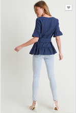 Load image into Gallery viewer, Natalia Ruffle Sleeve Top