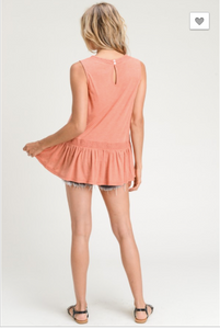 Elliston Sleeveless Peplum Tank