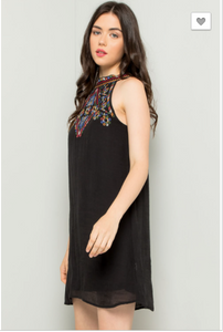 Eden Embroidered Halter Dress