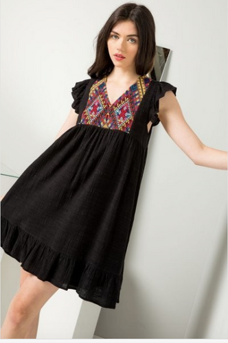 Valerie Flutter Sleeve Dress