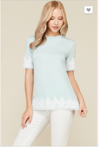 Elizabeth Scalloped Trim Top