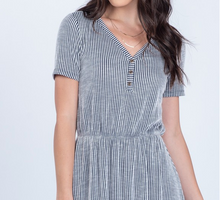Load image into Gallery viewer, Libby Stripe Button Dress