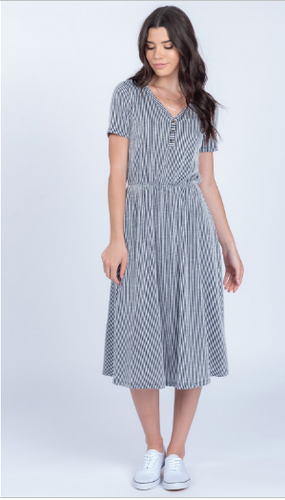 Libby Stripe Button Dress