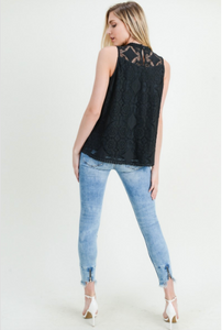 Cara Black Lace Top
