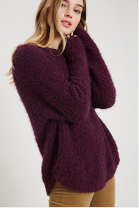 Tabitha Plum Fuzzy Sweater