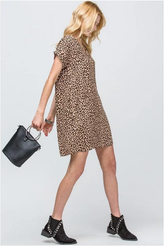 Veronica Leopard Dress with Pockets