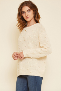 Mira Cable Knit Pom Sweater