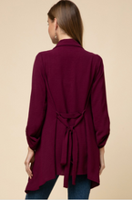 Load image into Gallery viewer, Kayla Burgundy Draped Jacket