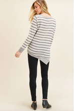 Load image into Gallery viewer, Lottie Asymmetrical Long Sleeve Stripe Top