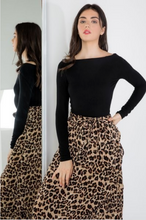 Load image into Gallery viewer, Emma Leopard Ruffle Midi Skirt