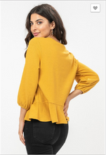 Load image into Gallery viewer, Samantha Button Down Peplum