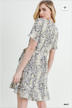 Load image into Gallery viewer, Python Ruffle Dress