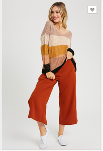 Cammie Knit Color Block Sweater