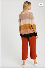 Load image into Gallery viewer, Cammie Knit Color Block Sweater