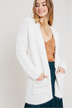Load image into Gallery viewer, Cream Popcorn Open Front Cardigan