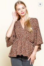 Load image into Gallery viewer, Briana Animal Print Surplice Top
