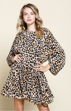 Load image into Gallery viewer, Wild & Free Leopard Ruffle Dress