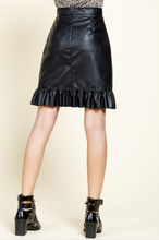 Load image into Gallery viewer, Diana Ruffle Leather Skirt