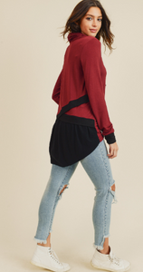 Chloe Casual Cowl Neck Top