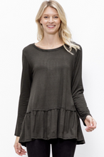 Load image into Gallery viewer, Sami's Striped Swing Top with Tiered Hem