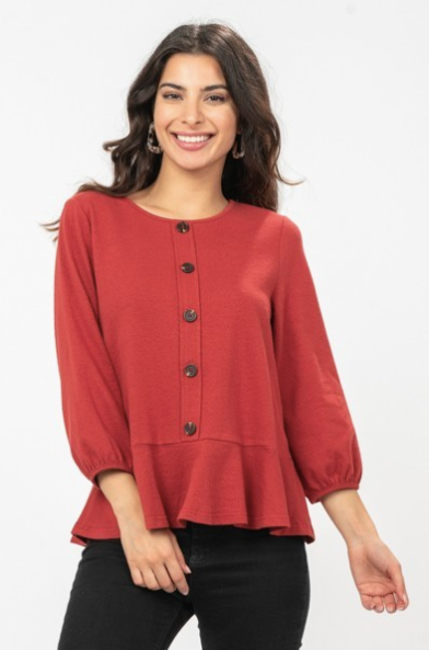 Samantha Button Down Peplum