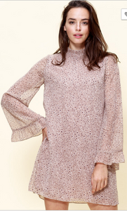 Darci Mini Print Dress with Bell Sleeves