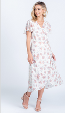 Load image into Gallery viewer, Fancy in Floral Ivory Midi Wrap Dress