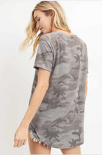 Load image into Gallery viewer, Callie Camo Short Sleeve Top