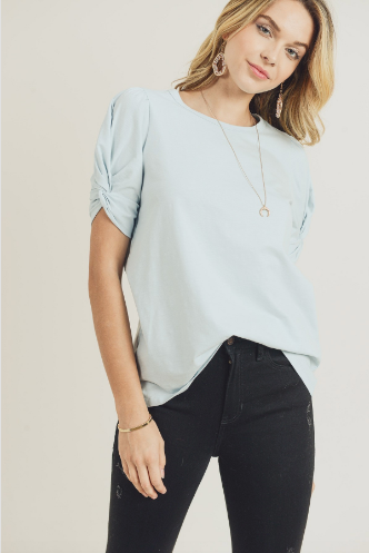 Madison Twist Sleeve Tee