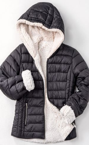 Shay Sherpa-Lined Puffer Jacket with Hood