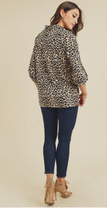 Stacy Animal Printed Button Down Shirt