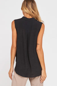 Sleeveless Fold Over Top