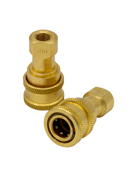 Brass Quick-Disconnect w/ Viton Seals