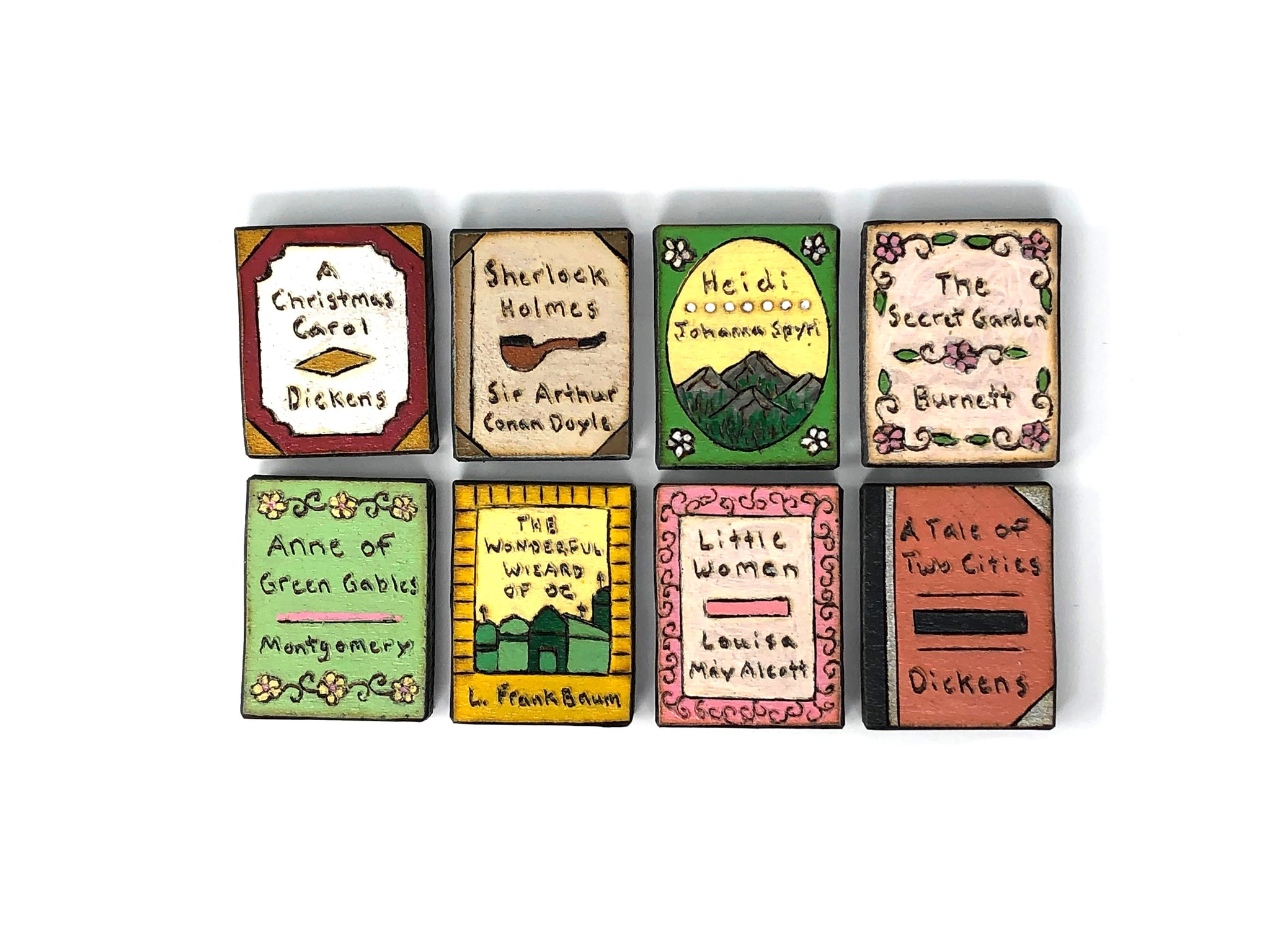 wooden magnets book