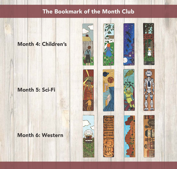 burnt edge studio bookmark of the month