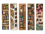 (Wholesale) Bookshelf Collection: 24 BOOKMARKS TOTAL - Books and Plants Bookself, Silver Tree Shelf, I Love Books Shelf, Potions Shelf, Mushroom Shelf