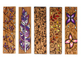 (Wholesale) Nature Collection: 24 BOOKMARKS TOTAL - Purple Leaf Bookmark, Purple Feather Bookmark, Leafy Vine Bookmark, Autumn Leaf Bookmark, Butterfly Bookmark