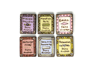 Jane Austen Book Magnet Set