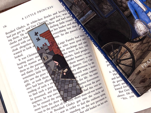 a little princess wooden bookmark