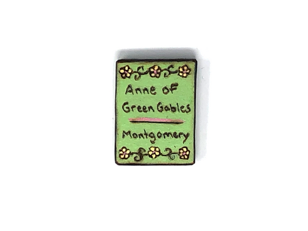 anne of green gables wooden book magnet