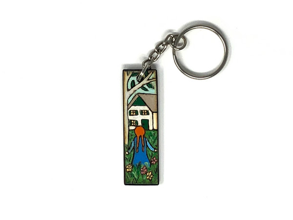 anne of green gables wooden keychain