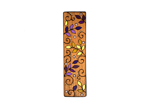 autumn leaf wooden bookmark