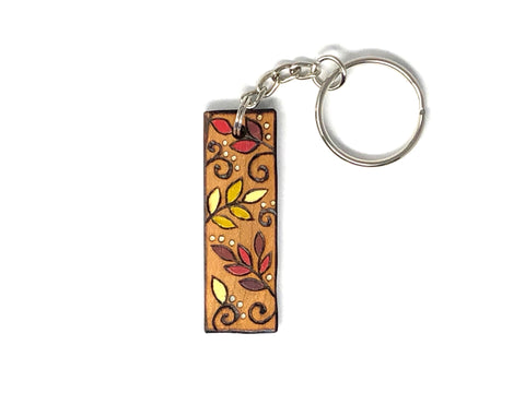 autumn leaf keychain