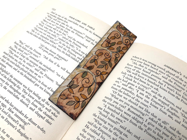 tree wooden bookmark