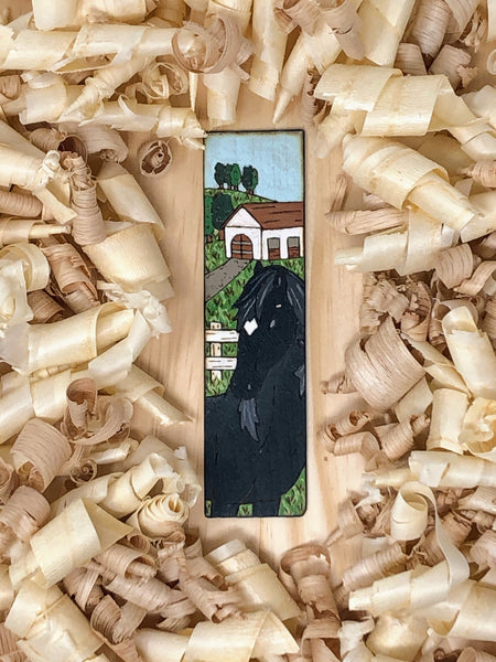 black beauty wooden horse bookmark
