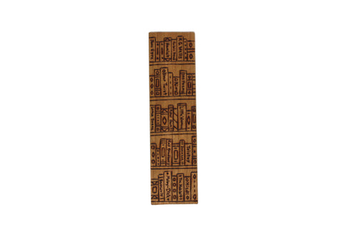 Bookshelf wooden bookmark